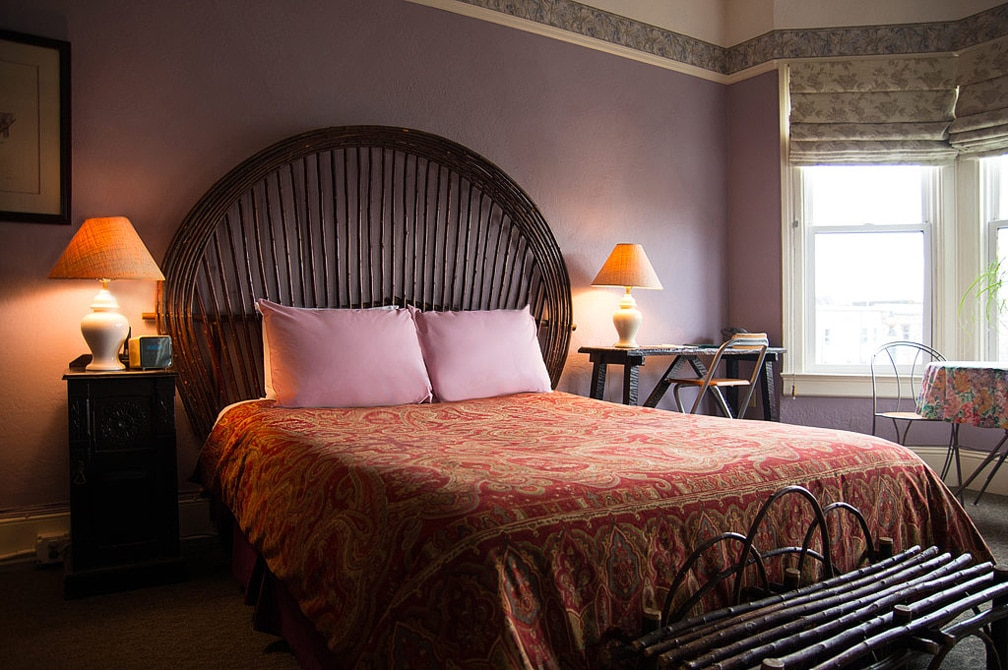 A Large Room With Queen Bed At San Francisco Bed And Breakfast, The Willows Inn