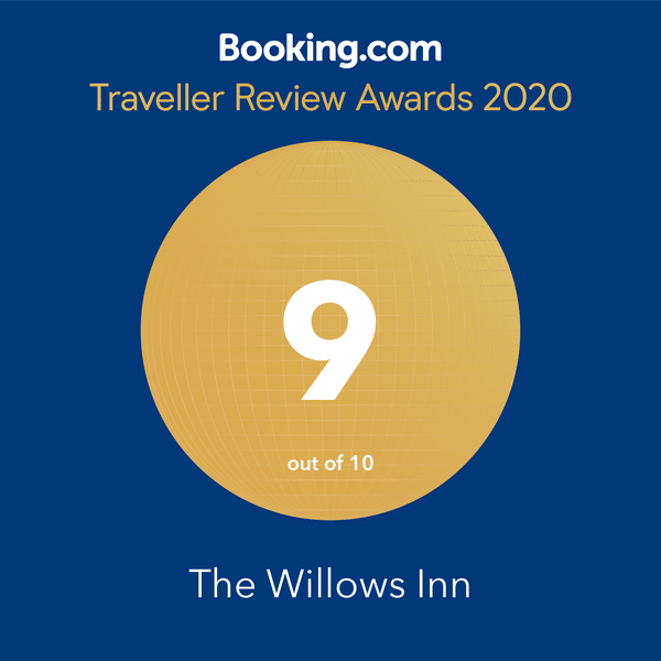 Booking.com, Traveller Review Awards 2020, The Willows Inn, Rated 9 out of 10